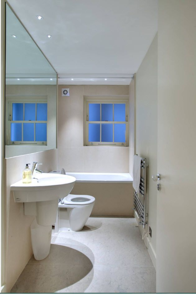 Modern bathroom full of oval forms