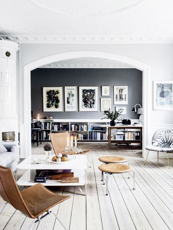 100+ Photo Modern Living Room Decoration Ideas. Nice vintage and Scandinavian mix of styles