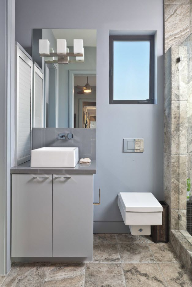 Gray idea of decorating classic bathroom
