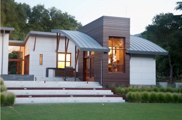 100+ Private House Roofs Beautiful Design Ideas. Ultramodern design concept of the house with vaulted visors