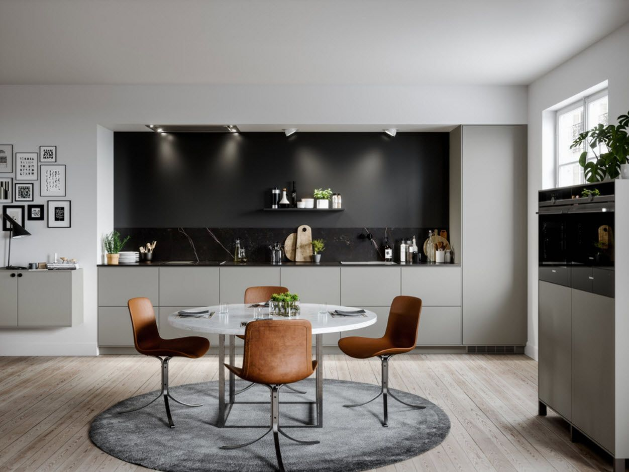 gray atmosphere with black splashback