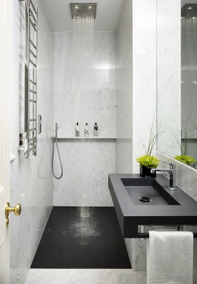 100 Small Bathroom Decoration Modern Design Ideas. All functional accessories for tiny area