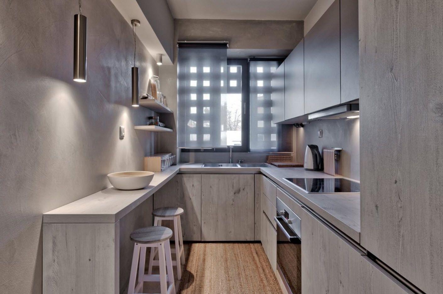 Gallet hi-tech kitchen with original blinds