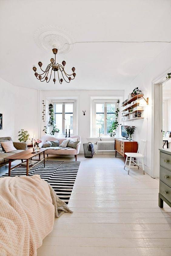 100+ Photo Modern Living Room Decoration Ideas. White classic interior with zebra carpet