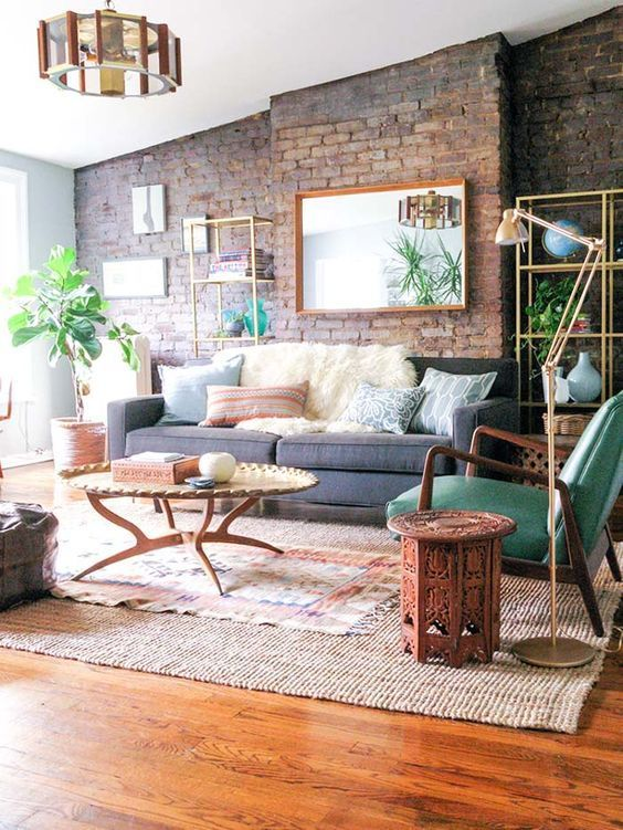 100+ Photo Modern Living Room Decoration Ideas. Nice original loft interior