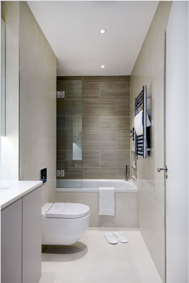 Gray decoration and beige accent tiled wall