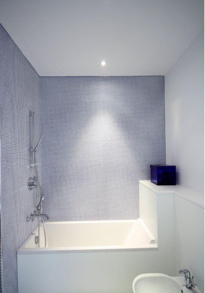 100 Small Bathroom Decoration Modern Design Ideas. White and pale blue interior