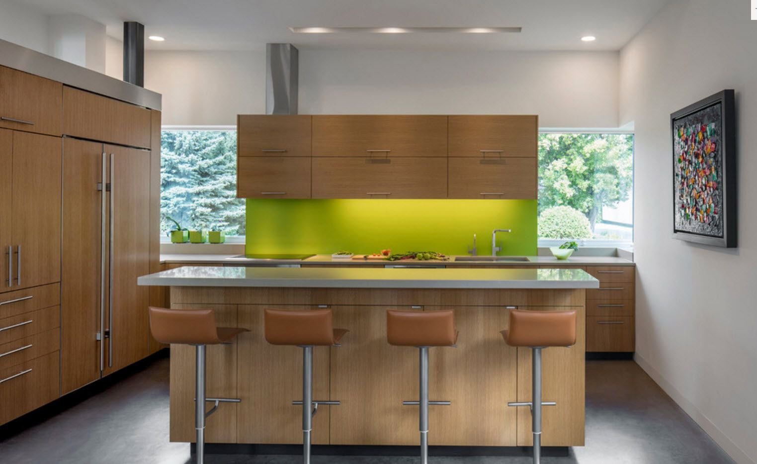 Merveilleux 100+ Photo Design Ideas Of Modern, Comfortable IKEA Kitchens. Green  Highlighted Splashback