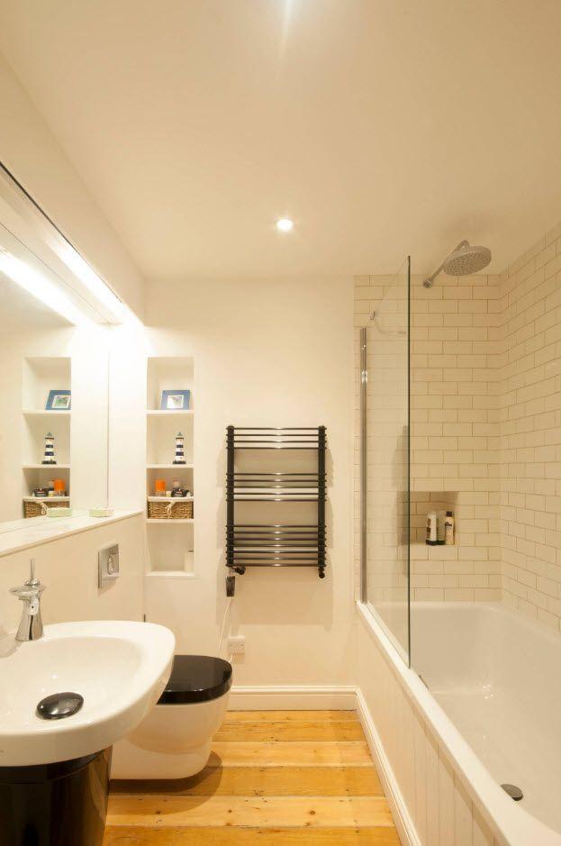 100 Small Bathroom Decoration Modern Design Ideas. Glass shower partition
