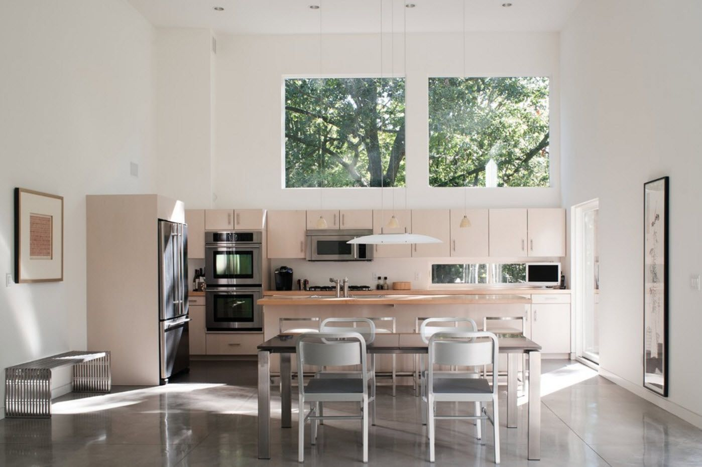 100+ Photo Design Ideas of Modern, Comfortable IKEA Kitchens. White and pastel bottom mix of colors