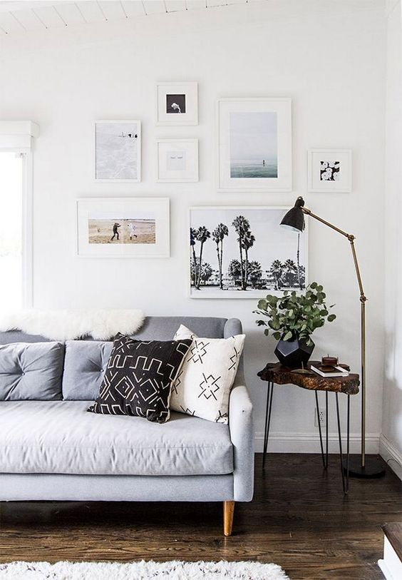 Typical Scandinavian style in the tight living