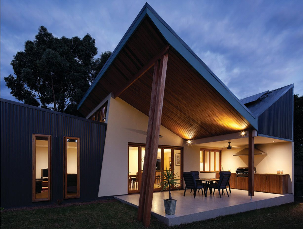 Modern wooden miracle cottage with recreational zone