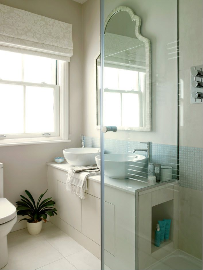 100 Small Bathroom Decoration Modern Design Ideas. A notes of Marine style