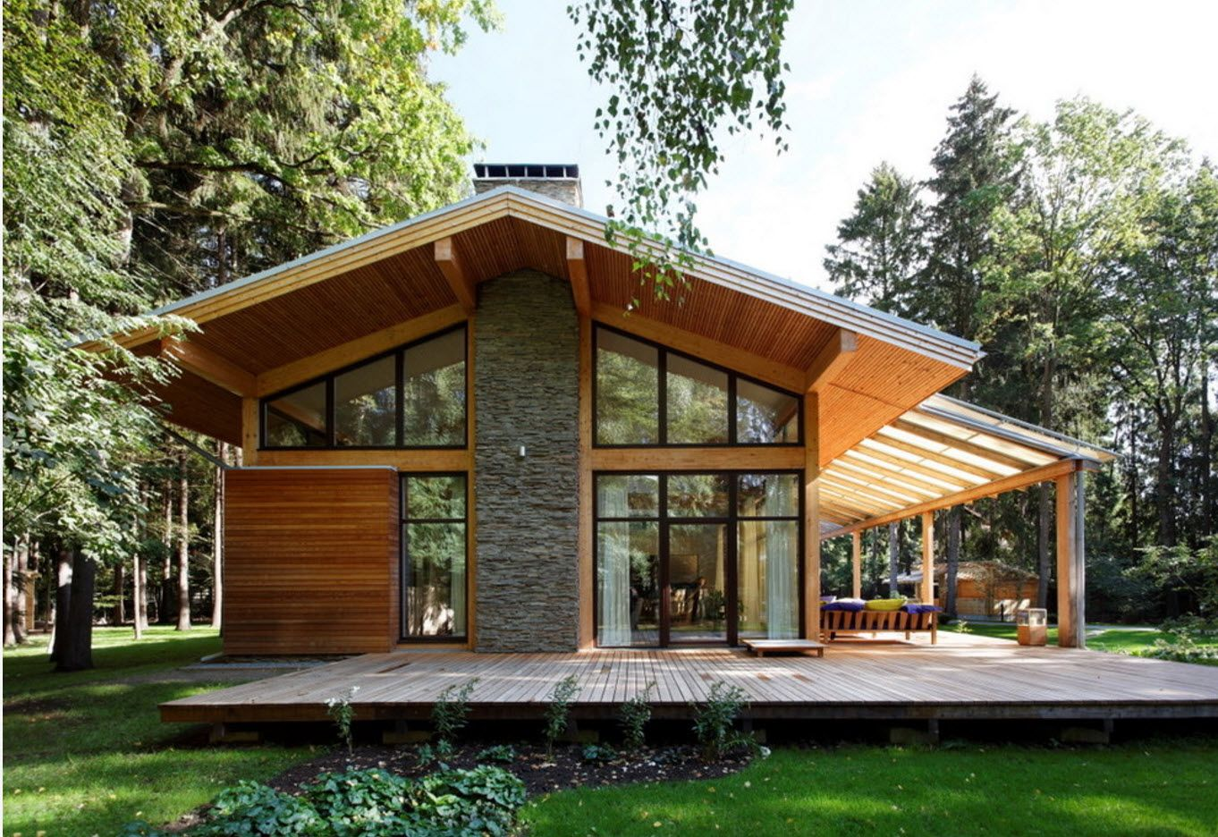 100+ Private House Roofs Beautiful Design Ideas. Spectacular wooden cottage on the Candanien technology basement