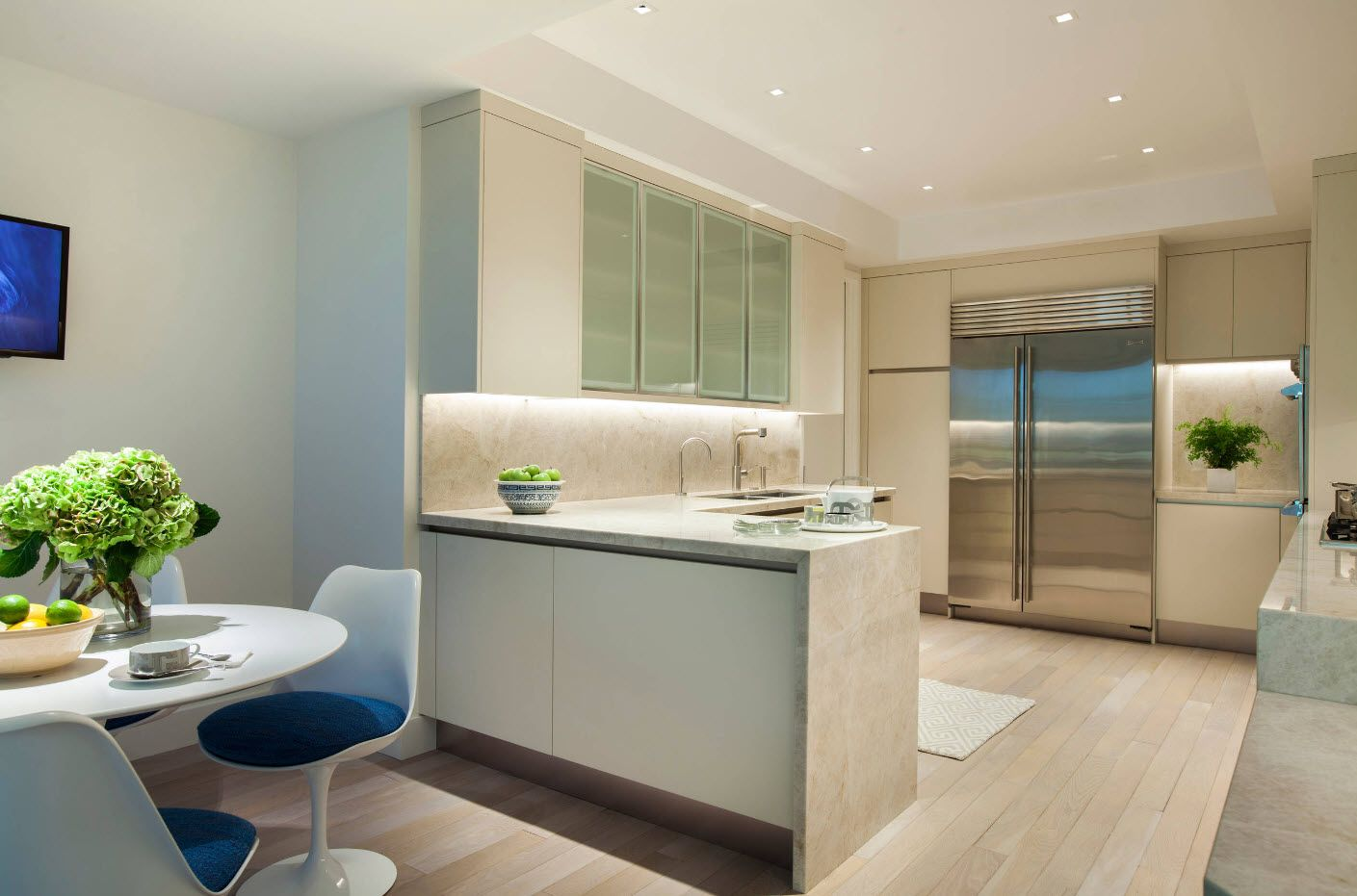 Nice white design of the contemporary styled kitchen