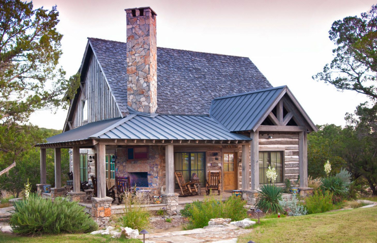 Cottage with high roof