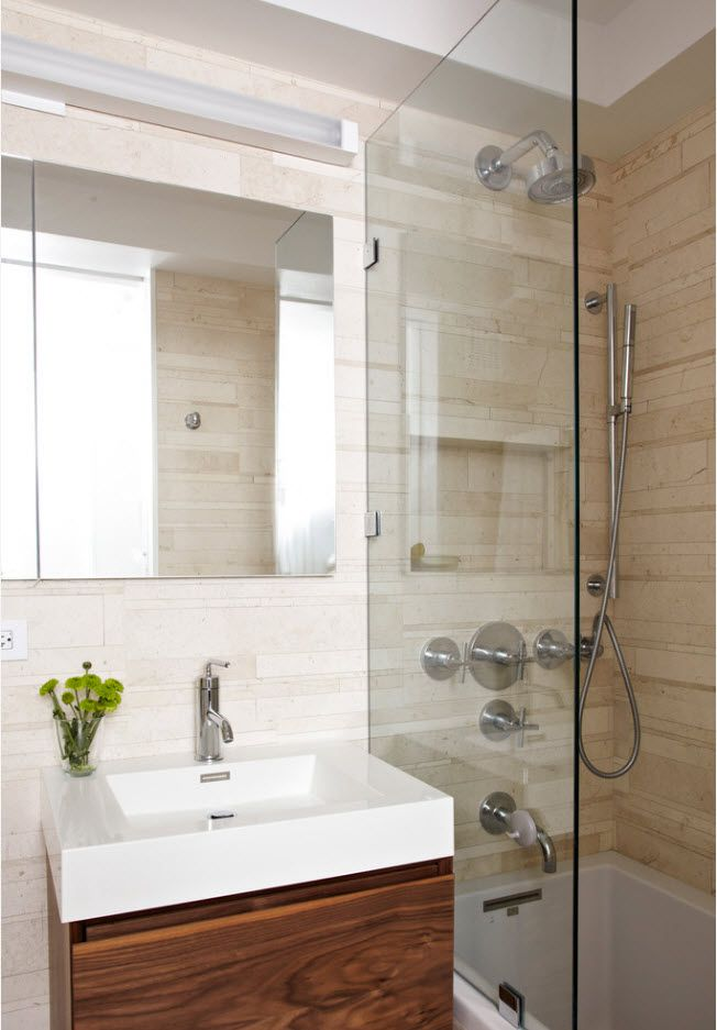 100 Small Bathroom Decoration Modern Design Ideas. Contemporary execution of the space with texture