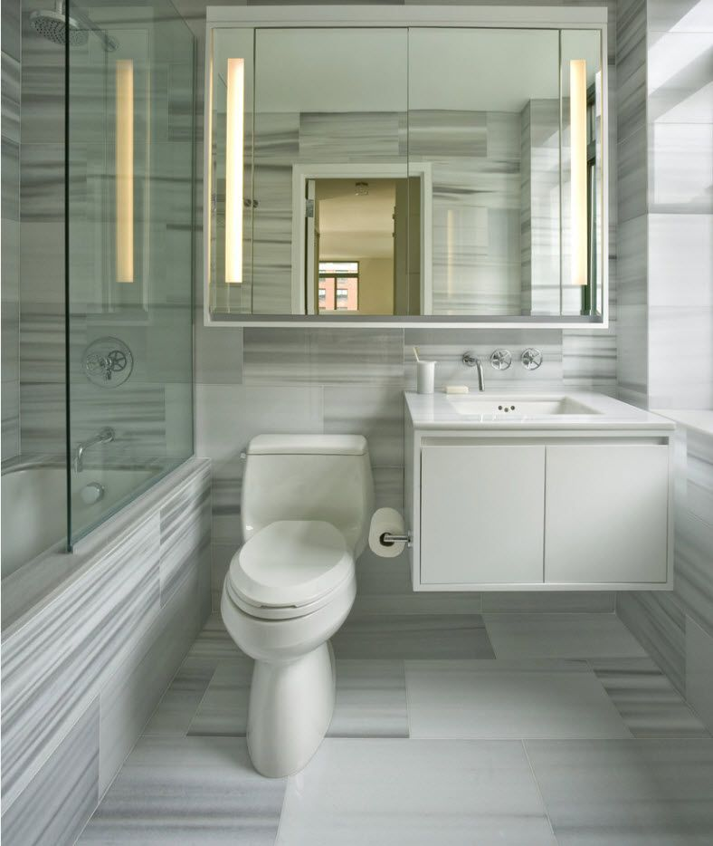 Light setting of the bathroom with vivid texture