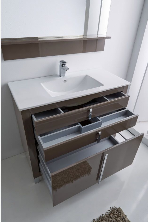 Nice modular storage idea for modern tight bathrooms