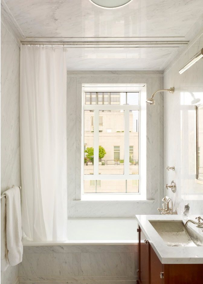 White and gray color palette for modern bathroom