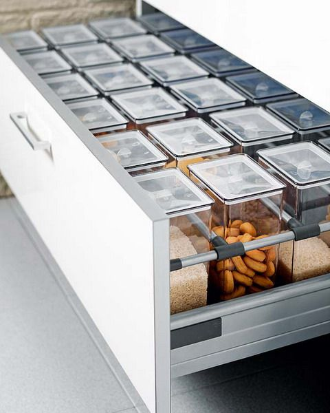 Plastic boxes for storage in the kitchen set box