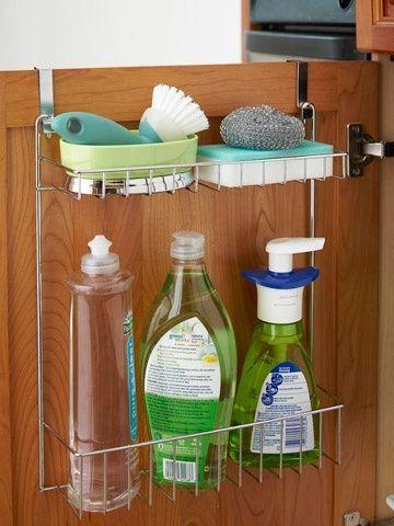Metal framed stands for liquid detergents