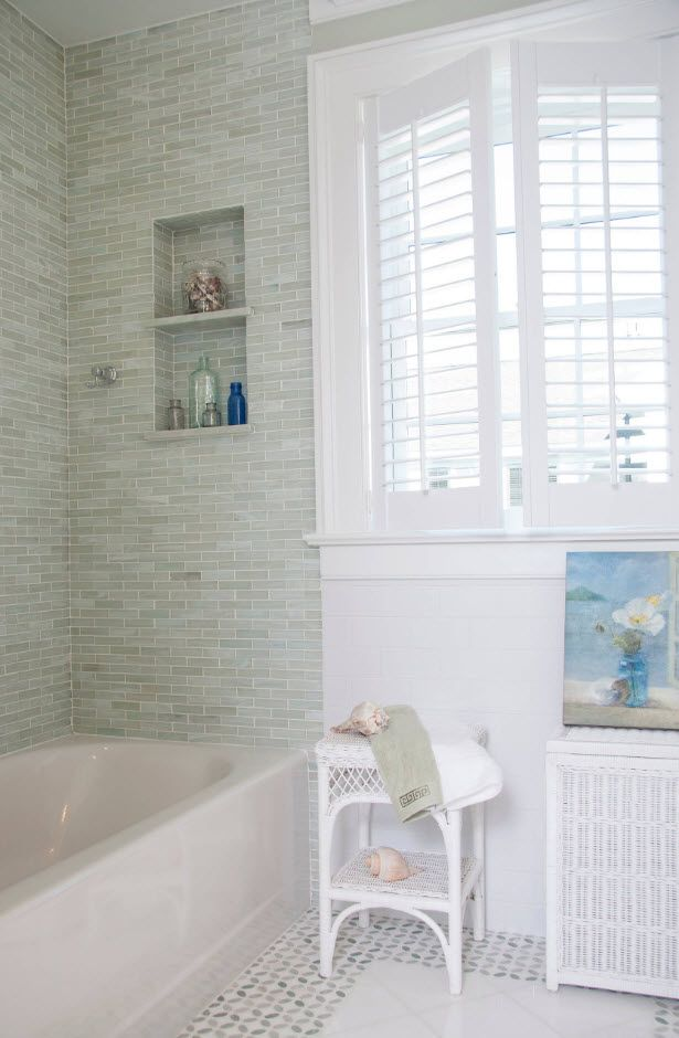 Bathroom Tiles Trends with Photogallery of Interiors 2017. White classic interior mood