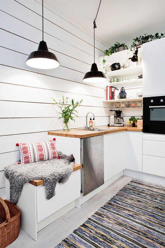 100+ Best Original Kitchen Design Ideas with Photos. Scandinavian modernity for average space with all necessary properly styled appliances