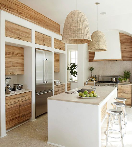100+ Best Original Kitchen Design Ideas with Photos. Contemporary styled area with spectacular inlays of wooden texture