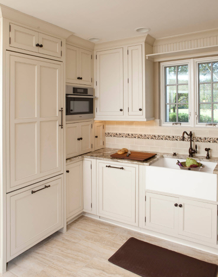 Typical classic style in the kitchen with black fittings