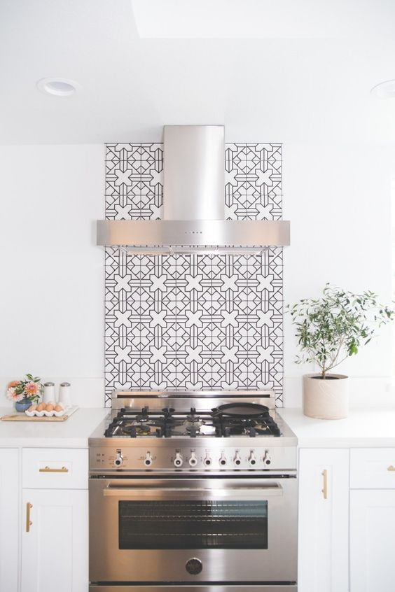 100+ Best Original Kitchen Design Ideas with Photos. Gorgeous idea of highlighting the hob and extractor hood