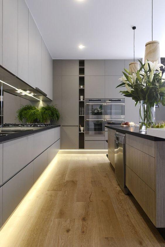 100+ Best Original Kitchen Design Ideas with Photos. Nice lower LED strip lighting
