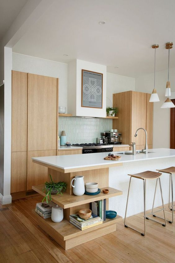 Restrained but sufficient Western Europe modern style with wooden materials