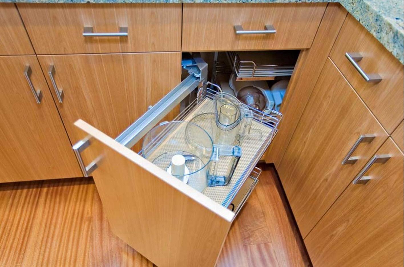wooden furniture set and wisely designed storage on aluminum frame