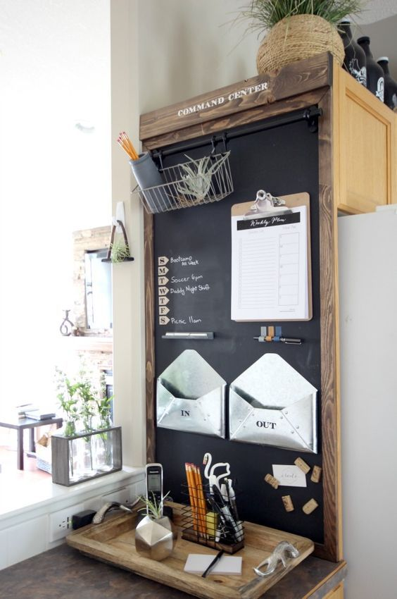 Stylish deisgn idea for gathering new information and letters at the kitchen