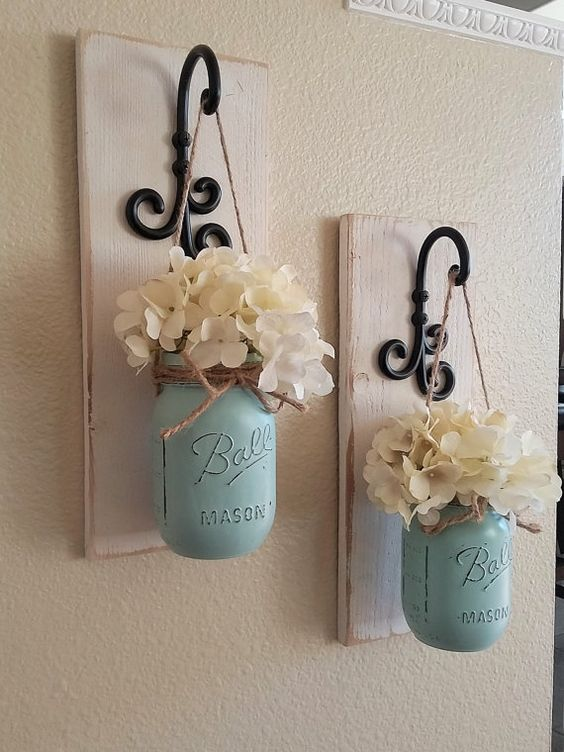 Styled and painted bottles for orchids