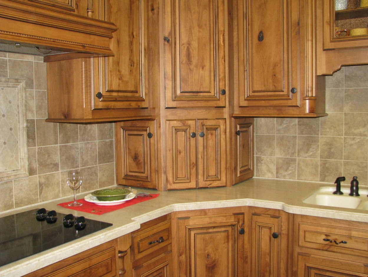 Gorgeous retro style in the l-shaped kitchen