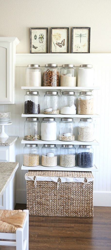 Glass jars for storage with aluminum caps