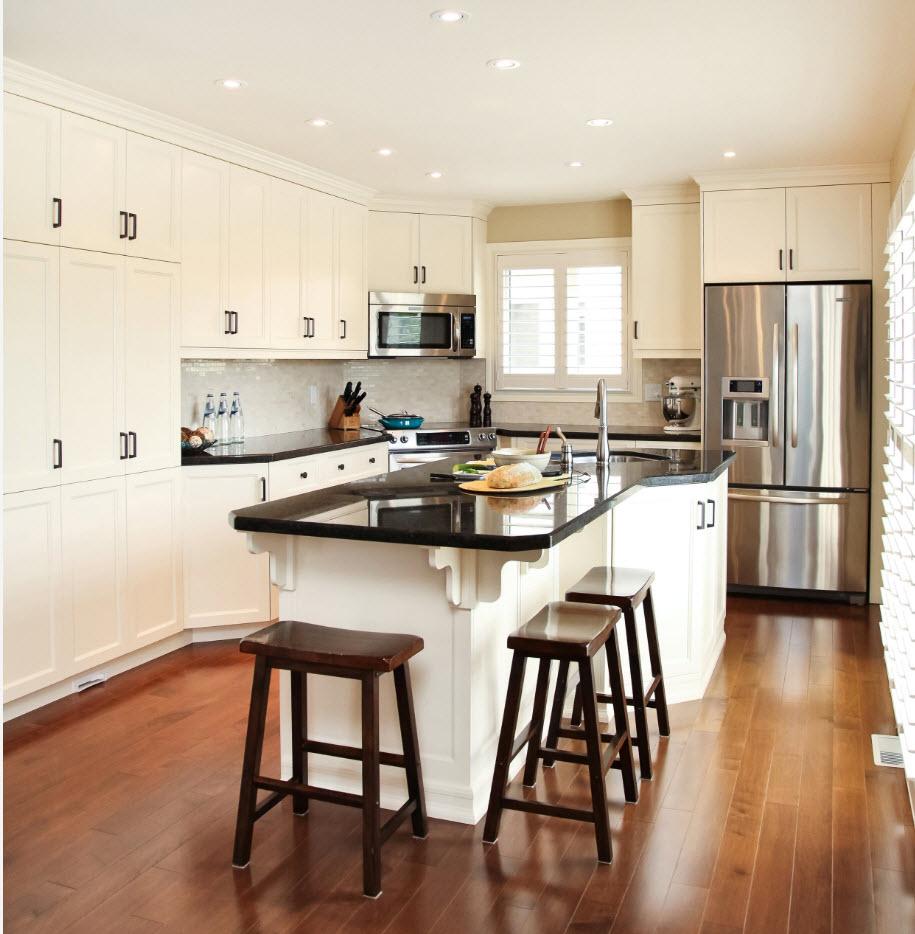 Angular Kitchen Layout Design Ideas 2017