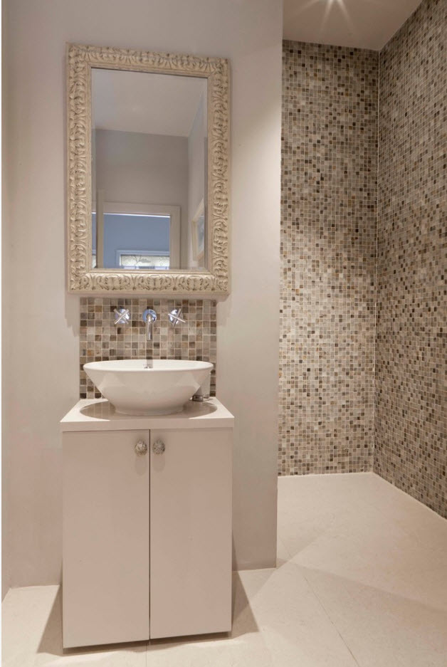 mosaic at the bathtub zone - Bathroom Tile Ideas Design