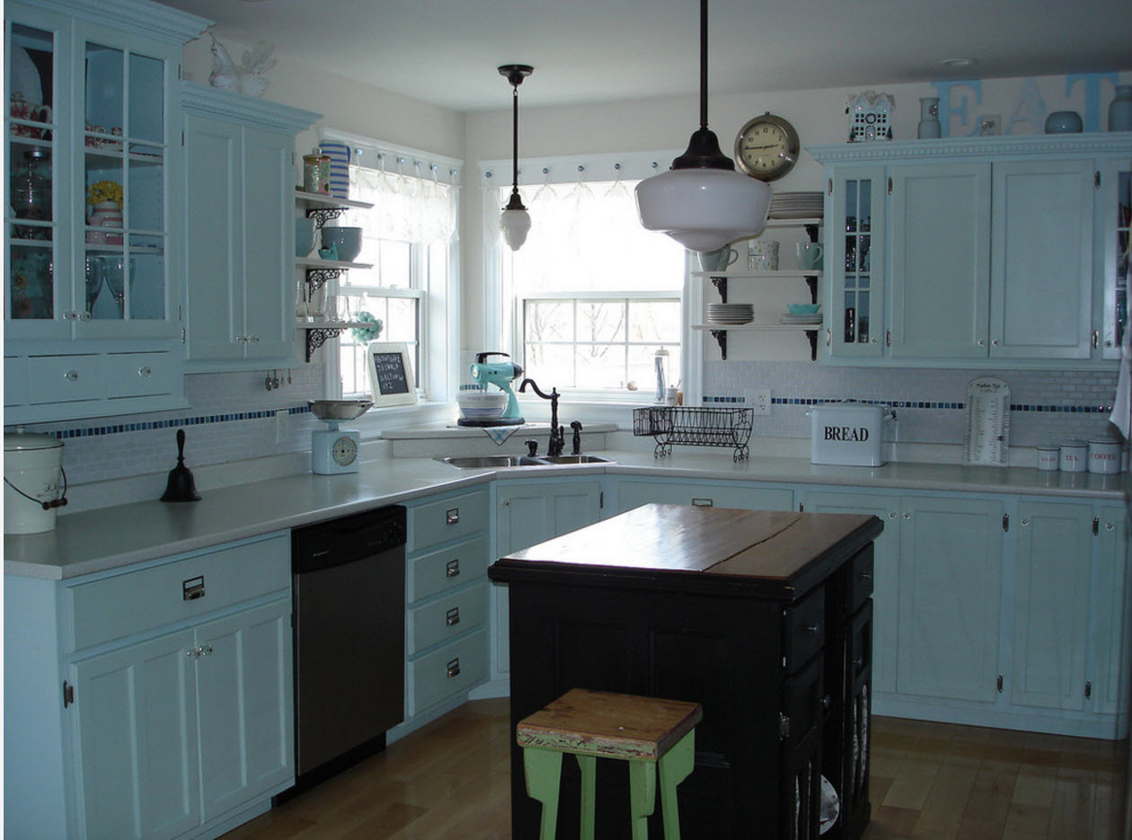 The angular design of the kitchen: the pros and cons 95