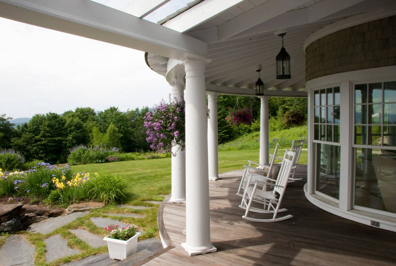 Country House Porch Decoration & Design Ideas. Semispheric vent at the open air