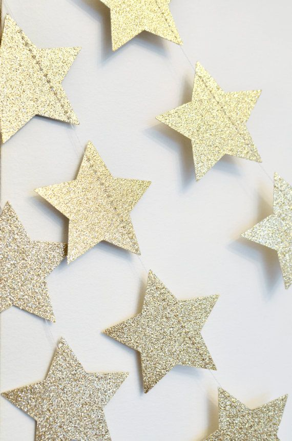 Stars of a paper with sequins