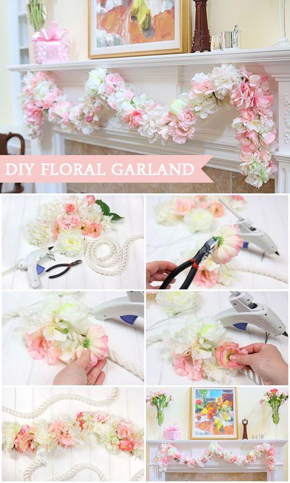Nice diy paper garland instruction collage