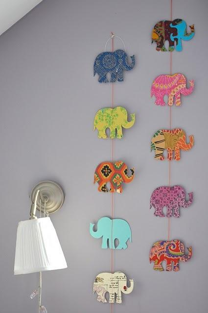 DIY Interior Decorating Garlands. Original and Budget Saving. Animals on the canvas