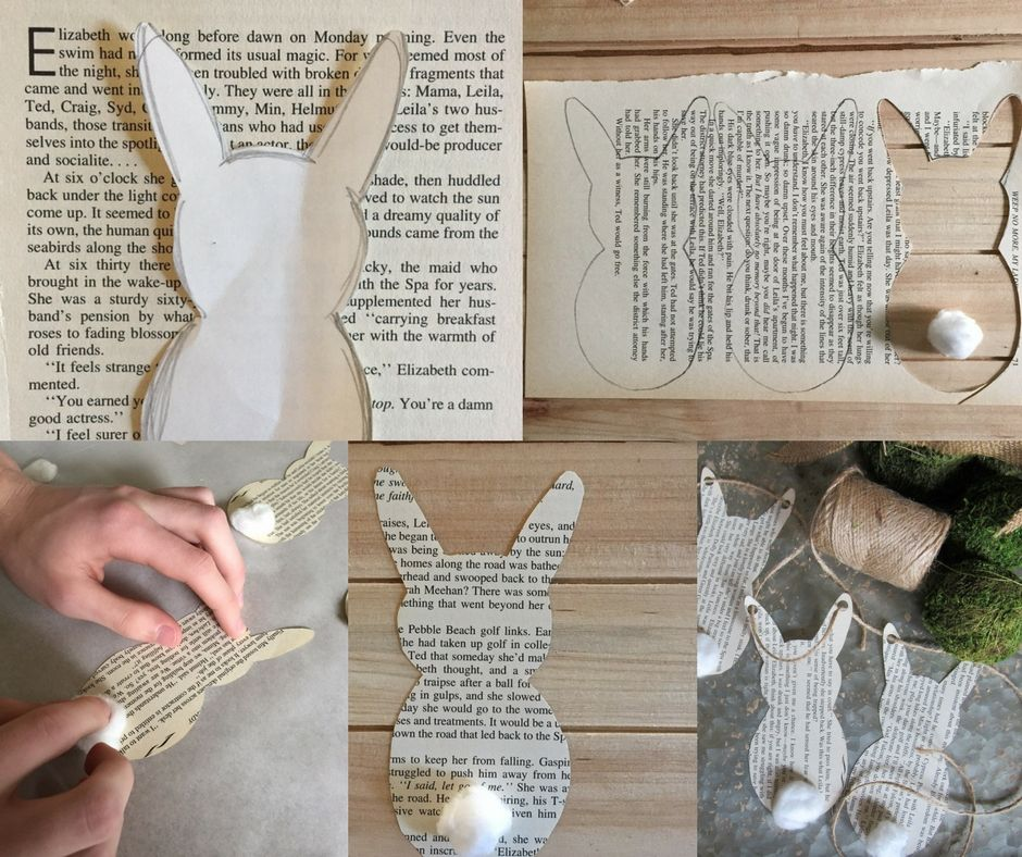 Photo instruction of how to cut out hare patterns from the paper