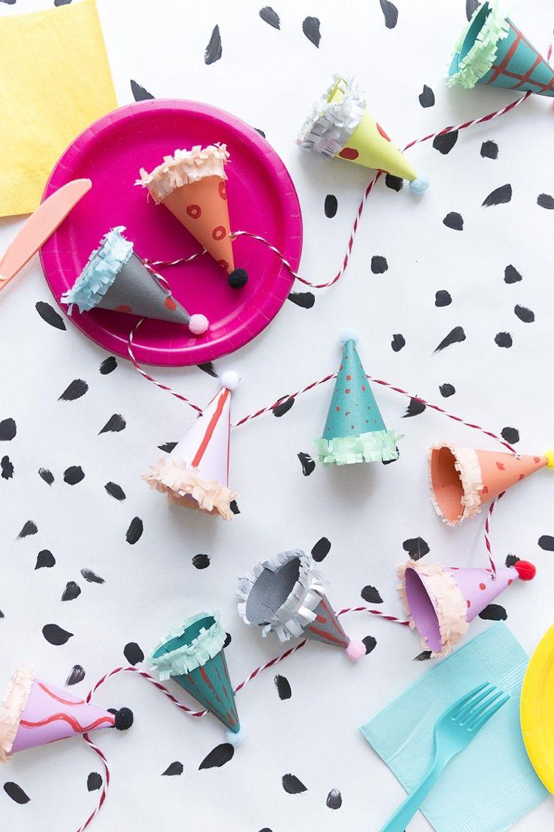 Ice cream cups as a nice improvised diy decoration