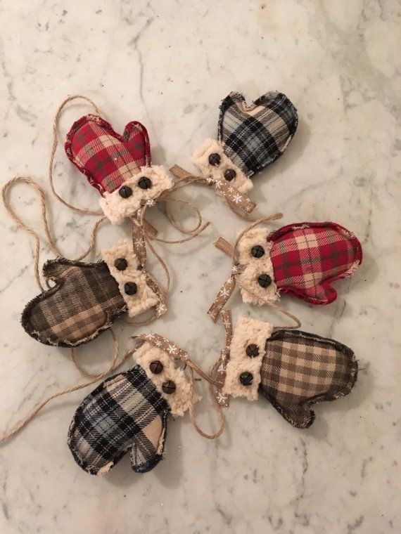 Fur mittens imitation of cloth for the modern garland for a rustic place