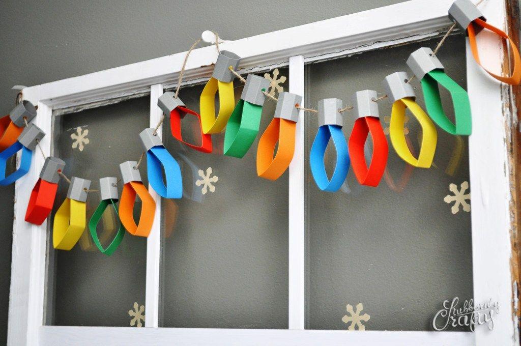 new Year lanterns imitation on the colorful garland