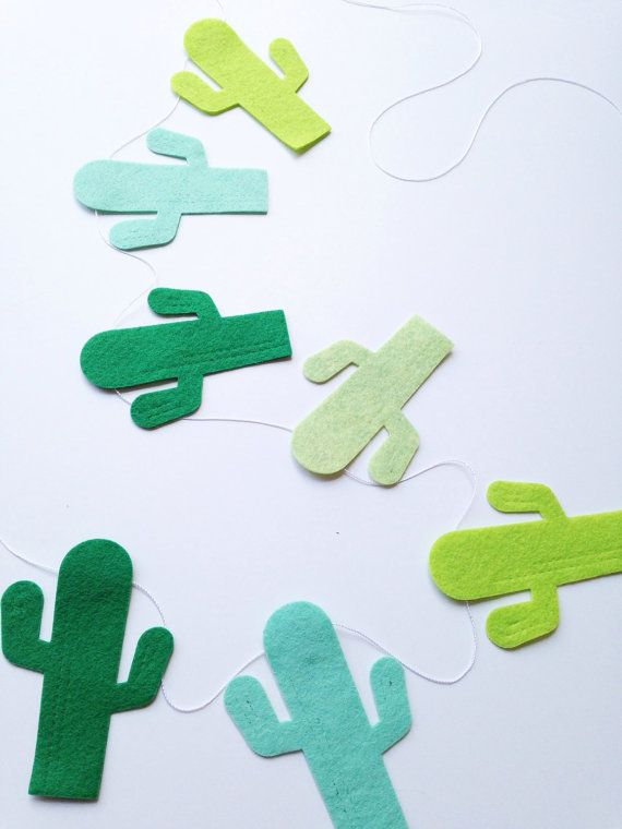 Cloth cactii for the Mexican party with tequila